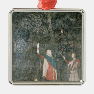 A Gentleman Hawking, from the Stag Room, 1343 Christmas Ornament
