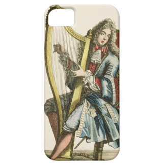 A gentleman playing the harp (engraving) barely there iPhone 5 case