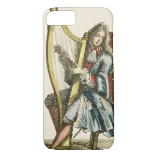 A gentleman playing the harp (engraving) iPhone 8/7 case