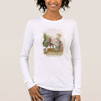 A gentleman playing the violin while a lady dances long sleeve T-Shirt