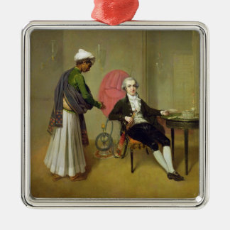 A Gentleman, possibly William Hickey, and his Indi Christmas Ornament