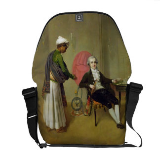A Gentleman, possibly William Hickey, and his Indi Courier Bags