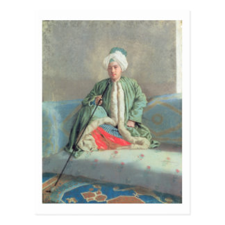A Gentleman Seated on a Couch Postcard