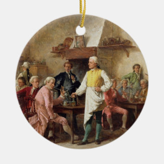 A Gentleman's Debate, 1881 (oil on panel) Christmas Ornament