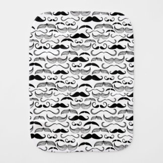 A Gentlemen's Club. Mustache pattern 2 Burp Cloth