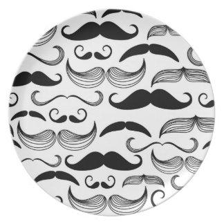 A Gentlemen's Club. Mustache pattern 2 Dinner Plates