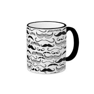A Gentlemen's Club. Mustache pattern 2 Ringer Mug