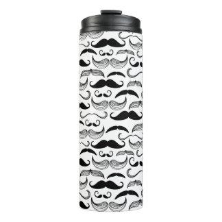 A Gentlemen's Club. Mustache pattern 2 Thermal Tumbler