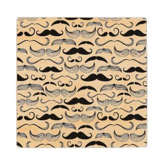 A Gentlemen's Club. Mustache pattern 2 Wood Coaster