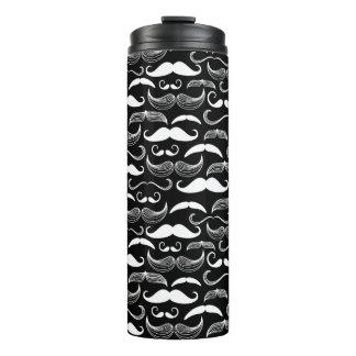 A Gentlemen's Club. Mustache pattern Thermal Tumbler