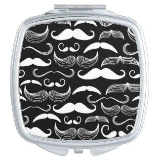 A Gentlemen's Club. Mustache pattern Vanity Mirrors