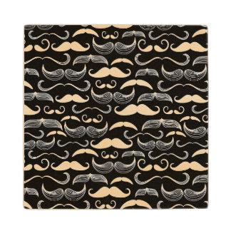 A Gentlemen's Club. Mustache pattern Wood Coaster