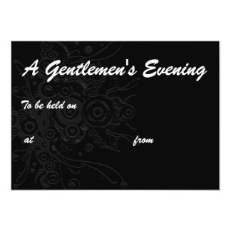 , A Gentlemen's Evening, To be held on, at  ... 13 Cm X 18 Cm Invitation Card