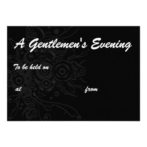 , A Gentlemen's Evening, To be held on, at  ... Announcements