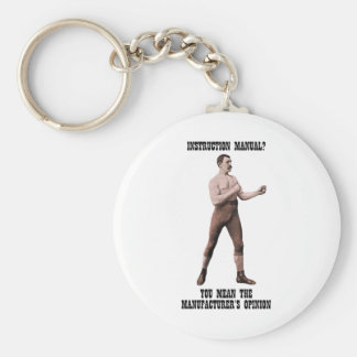 A Genuine Overly Manly Man Key Ring