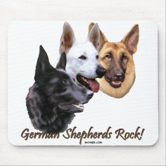 A German Shepherds Rock Trio Mousepad
