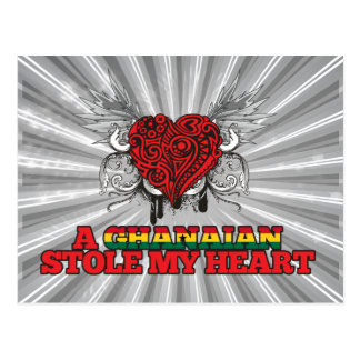A Ghanaian Stole my Heart Postcard