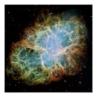 A Giant Hubble Mosaic of the Crab Nebula Poster
