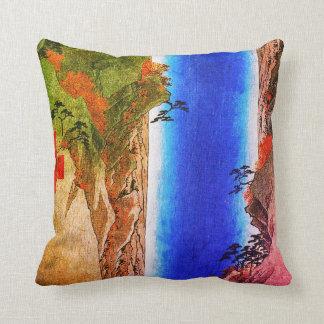A Giant Waterfall Throw Pillow