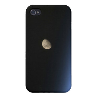A gibbous moon visible above Earth's atmosphere 2 iPhone 4/4S Cases