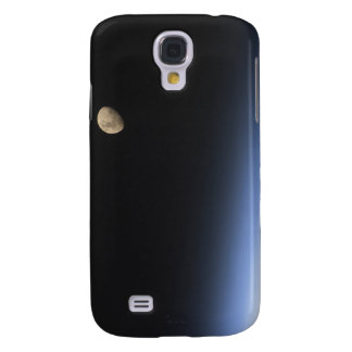 A gibbous moon visible above Earth's atmosphere Galaxy S4 Case