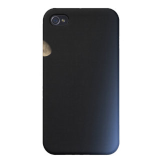 A gibbous moon visible above Earth's atmosphere iPhone 4/4S Cover