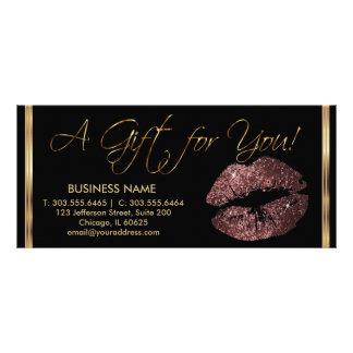 A Gift Certificate Dark Rose Lipstick Business 2 Customised Rack Card