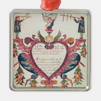 A gift dedicated to Charles II by Bartholomew Christmas Ornament