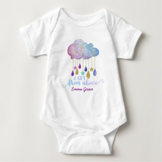 A Gift From Above Rainbow Cloud & Gold Baby Girl Baby Bodysuit