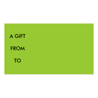 A GIFT FROM BUSINESS CARD TEMPLATE