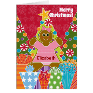 A Gingerbread Girl for Christmas Add a Name Card