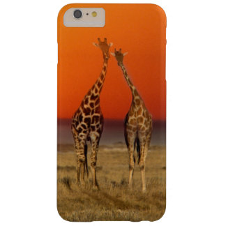 A Giraffe couple walks into the sunset, in Barely There iPhone 6 Plus Case