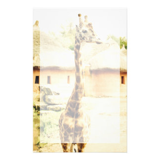 A Giraffe In An African Village Animal Photograph Customized Stationery