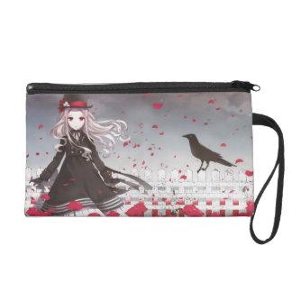 A Girl and A crow Anime Wristlet