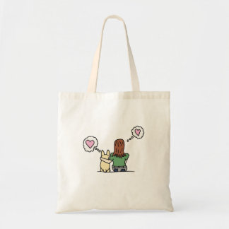 A girl and her Corgi series#1 Tote Bag