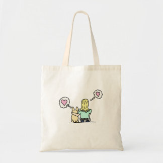 A girl and her Corgi series#2 Tote Bag
