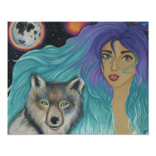 A Girl and her Wolf poster