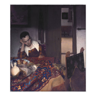 A Girl Asleep by Johannes Vermeer Photo Art