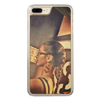 a girl carved iPhone 8 plus/7 plus case
