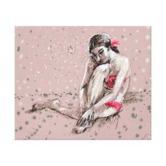 A girl dreaming canvas print