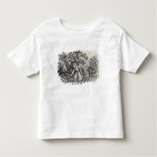 A Girl Gathering Flowers Toddler T-Shirt