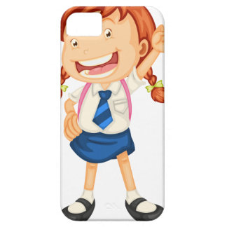 a girl going to school case for the iPhone 5
