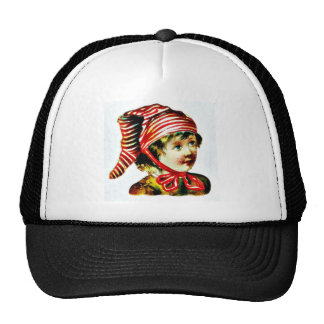 a girl trucker hat