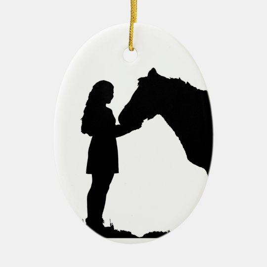 A Girl & Her Horse Love Silhouette Art