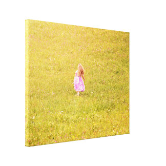 A girl in a garden gallery wrapped canvas