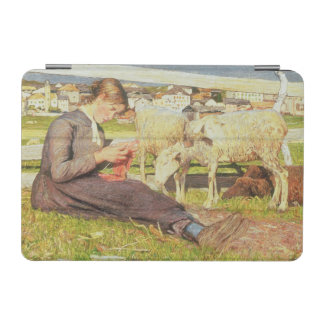 A Girl Knitting, 1888 (oil on canvas) iPad Mini Cover