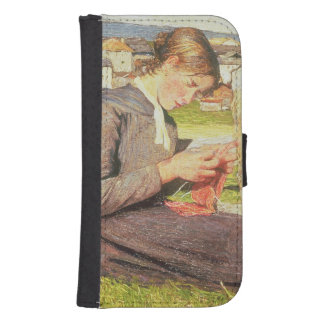 A Girl Knitting, 1888 (oil on canvas) Samsung S4 Wallet Case