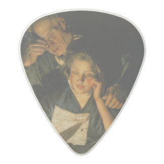 A Girl reading a Letter Acetal Guitar Pick