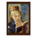 A Girl Reading By Pierre-Auguste Renoir Card