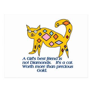 A girl s Best Friend Card Postcard